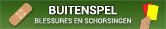Overzicht van alle schorsingen en blessures in de Eredivisie