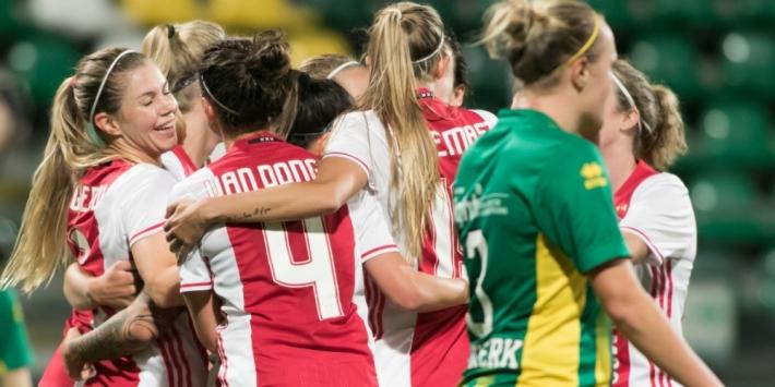 Ajax-vrouwen nog steeds foutloos na gewonnen topper