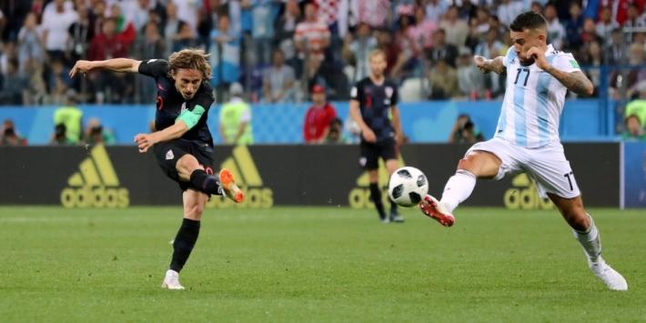 Uitblinker Modric geniet van 'perfecte' wedstrijd van Kroatië
