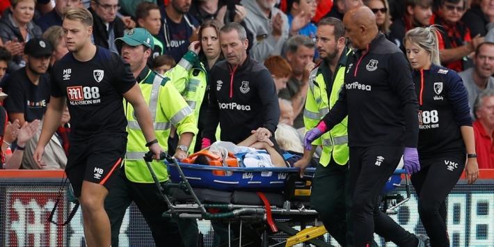 Everton-verdediger houdt scheurtje in schedel over aan botsing