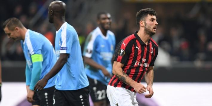 Groep F: AC Milan met schrik vrij tegen Luxemburgers