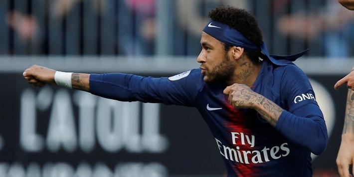 Neymar helpt PSG in laatste duel voor schorsing aan zege