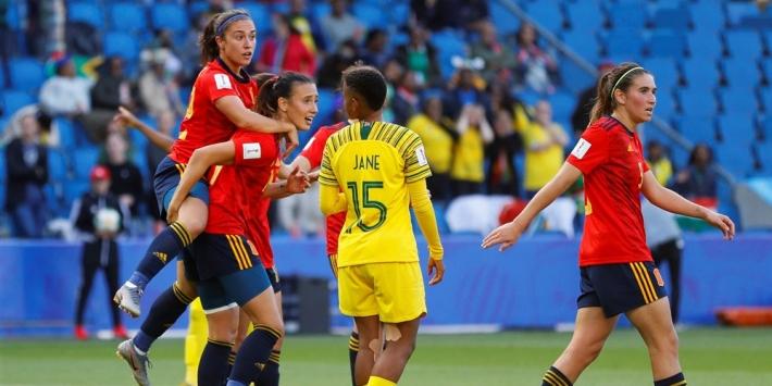 Spanje voorkomt in slotfase WK-stunt van Zuid-Afrika