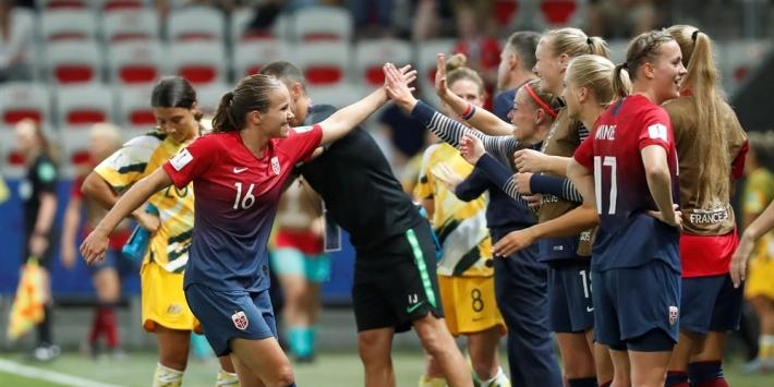 Noorwegen kwartfinalist na mooi voetbalgevecht