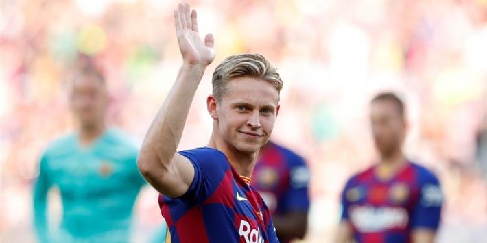 Frenkie maakt basisdebuut bij Barça, ook Schöne start