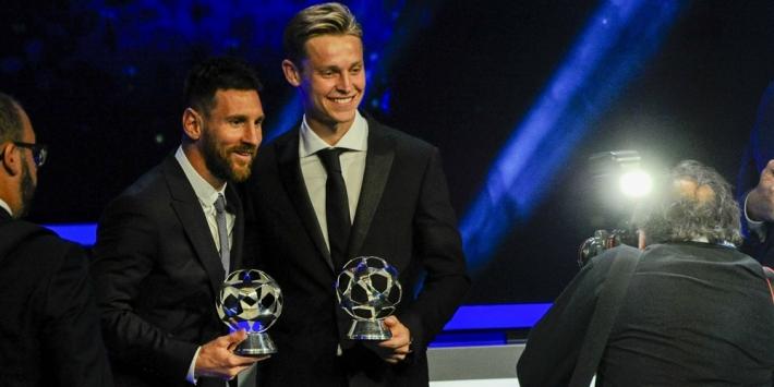 """Messi: """"Frenkie complete voetballer, houdt ervan bal te hebben"""""""