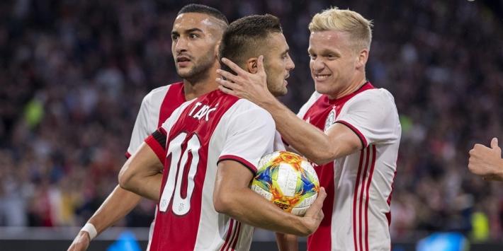 Van de Beek maakt zich geen zorgen ondanks mindere duels Ajax