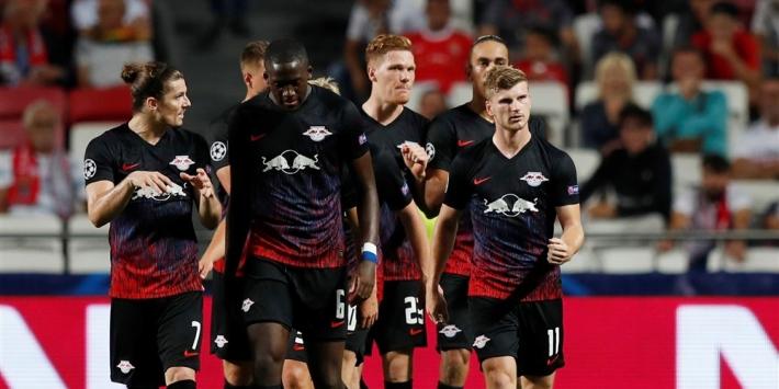 Werner leidt Leipzig met twee doelpunten langs Benfica