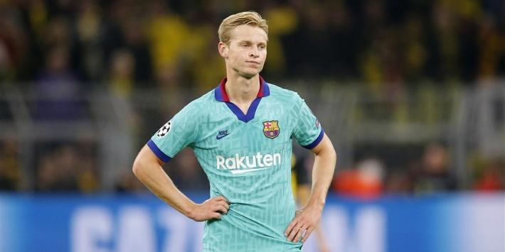 """Frenkie de Jong betreurt uitschakeling van 'zijn' Ajax: """"Écht balen"""""""