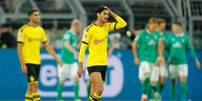 Dortmund in levendig duel niet langs Werder Bremen