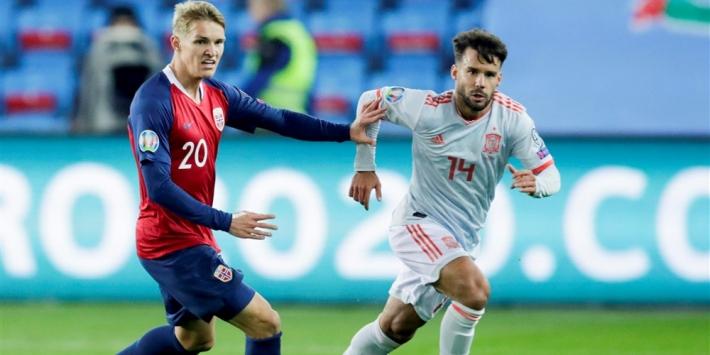Spanje nog niet zeker van EK-deelname na late Noorse treffer
