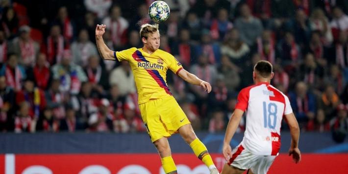"""De Jong na winst Barcelona: """"Ik denk dat we gelukkig waren"""""""