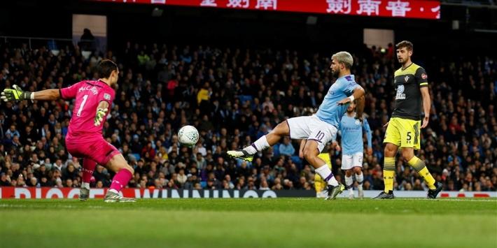 Man City wint in League Cup van aangeslagen Southampton