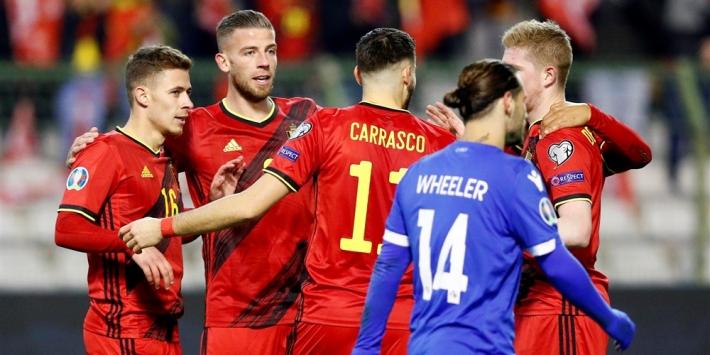 België blijft ondanks snelle achterstand foutloos in EK-kwalificatie