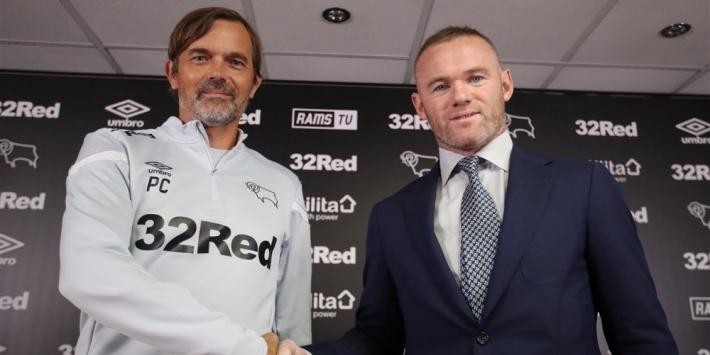 Rooney hoopt nog op promotie met Derby en leert veel van Cocu