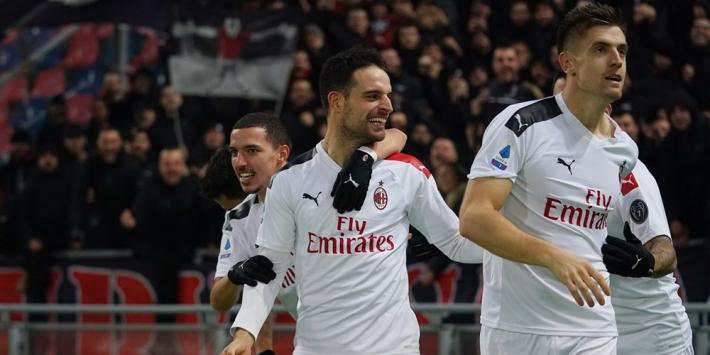 AC Milan moeizaam langs Nederlandse enclave van Bologna