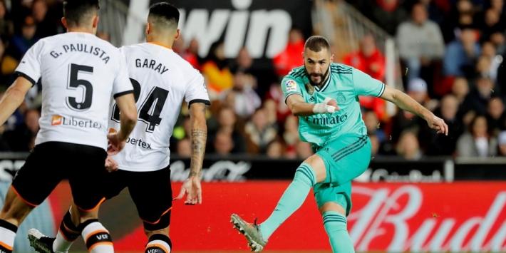 Real Madrid in laatste seconde naast Valencia én Barça