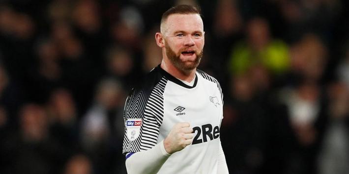 Rooney wijst bij debuut Cocu's Derby County direct de weg