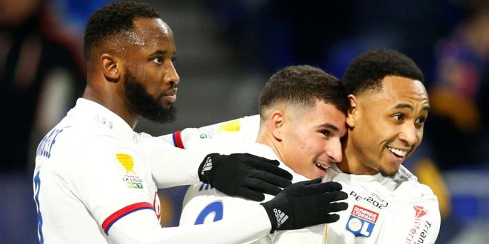 Tete loot met Olympique Lyon het Paris Saint-Germain van Bakker