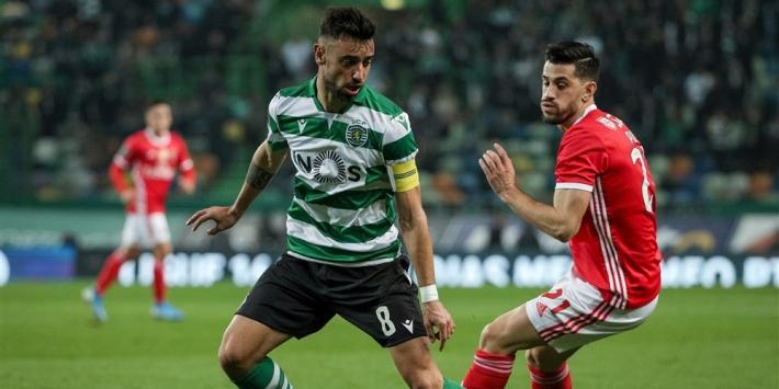 Fernandes in 'afscheidsduel' onderuit tegen Benfica