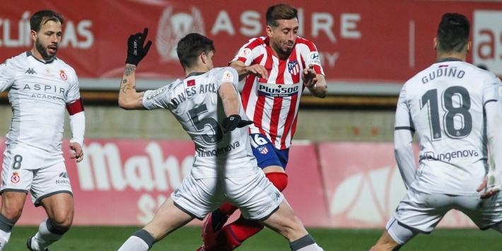 Atlético Madrid blameert zich in Copa del Rey tegen derdeklasser