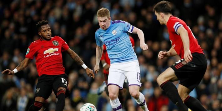 De Bruyne twijfelgeval voor derby tegen Manchester United