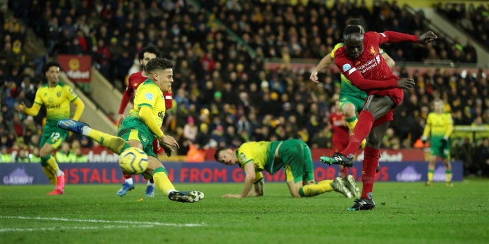 Koploper Liverpool knokt en wint ook bij Norwich City