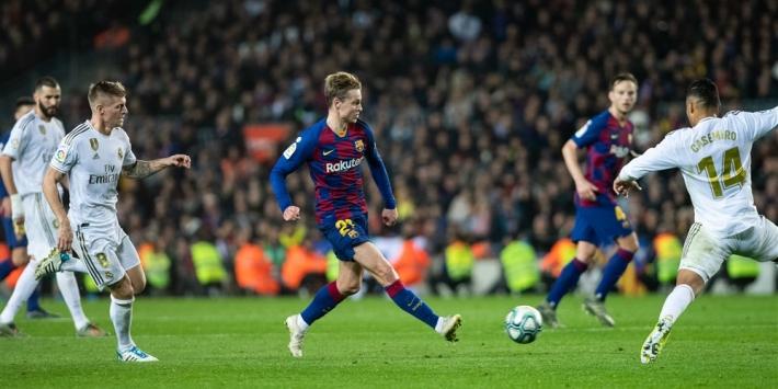 De Jong gelooft nog in titel ondanks verlies in El Clásico