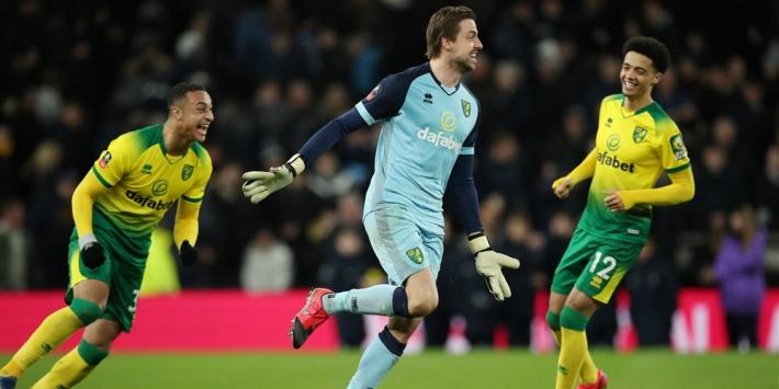 Krul is weer penaltyheld en loodst Norwich langs Spurs