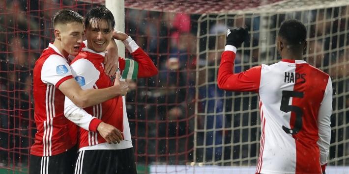 Feyenoord bereikt bekerfinale na zeer ruime overwinning op NAC