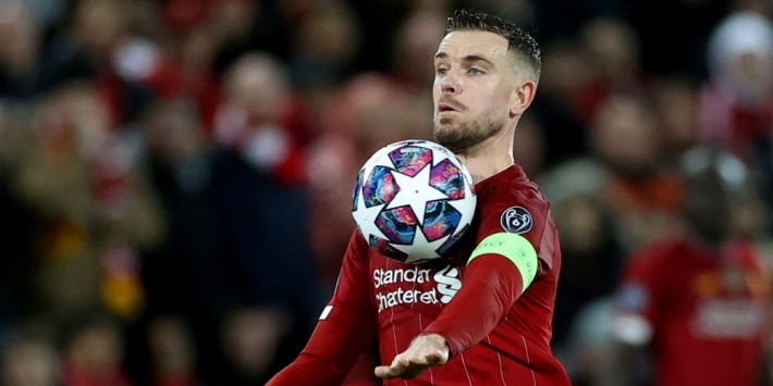 Liverpool-captain Henderson vol lof over Van Dijk