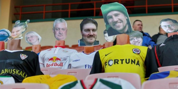 Wit-Russische club vult stadion met etalagepoppen