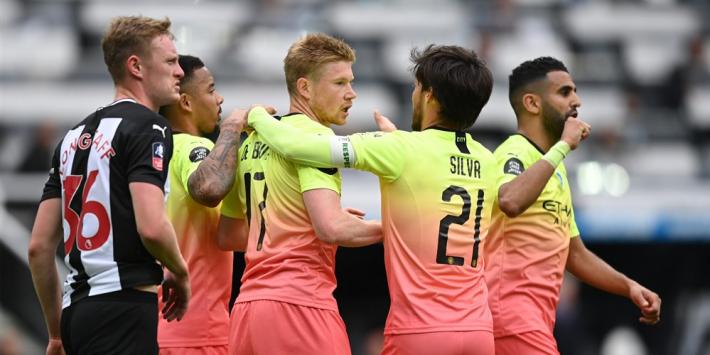 City rekent af met Newcastle en treft Arsenal in halve finale