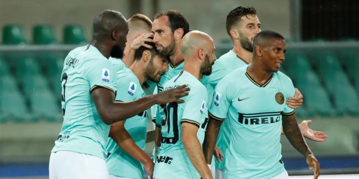 Heel zwak Inter morst slechts deels dankzij Candreva