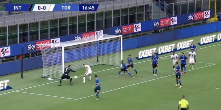Video: Internazionale-keeper Handanovic gruwelijk in de fout