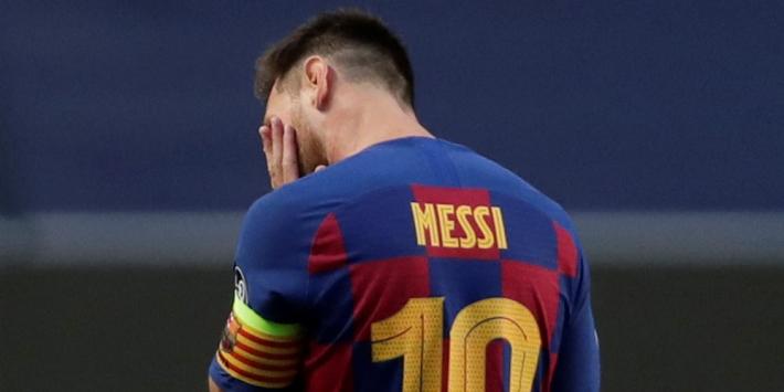 Messi laat ook eerste training Koeman schieten bij Barça