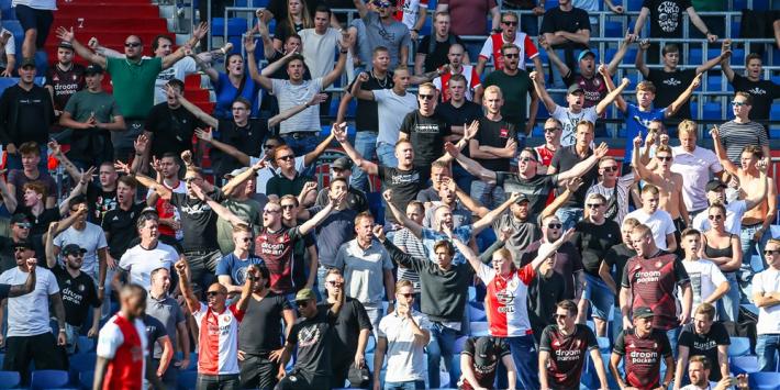 Feyenoord onderzoekt situatie op tribune tijdens duel met Twente