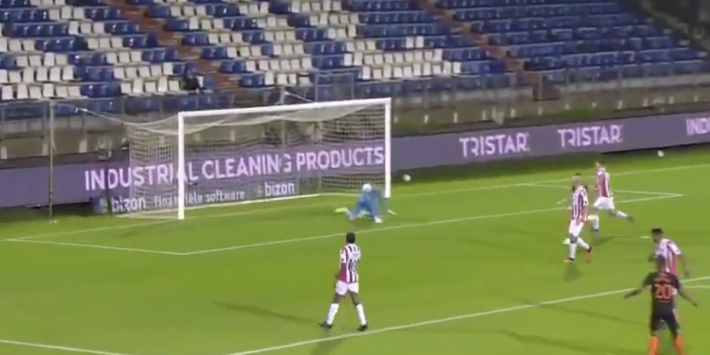 Video: blunder keeper Ruiter brengt Willem II in grote problemen