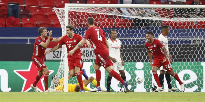 Bayern op tandvlees langs Sevilla en wint ook Super Cup
