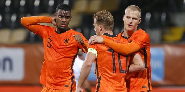 Jong Oranje hoeft niet diep te gaan om vijf keer te scoren