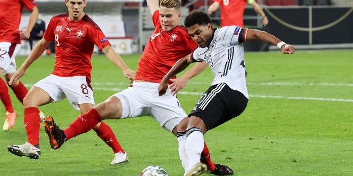 Gelijk verdeelde doelpuntenregen bij Duitsland tegen Zwitserland