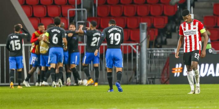 PSV geeft voorsprong weg en start Europa League met kater