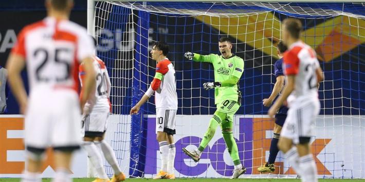 'Rood' Feyenoord pakt punt ondanks gemiste strafschop Berghuis