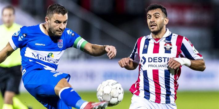 Puntendeling PEC Zwolle en Willem II na interessant duel