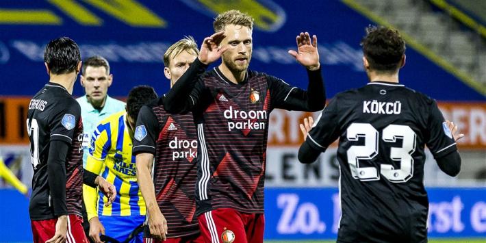Feyenoord valt weer tegen: remise en blessures op bezoek bij RKC