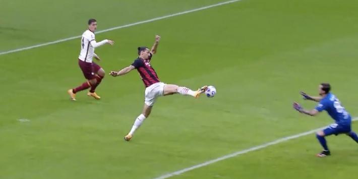 Video: Ibrahimovic opent razendsnel de score tegen AS Roma