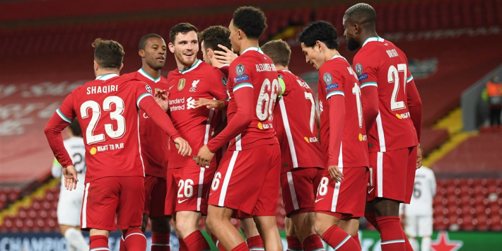 Liverpool boekt thuis magere zege tegen Midtjylland