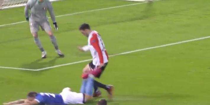 Video: Feyenoord start ongelukkig met penalty en goal tegen