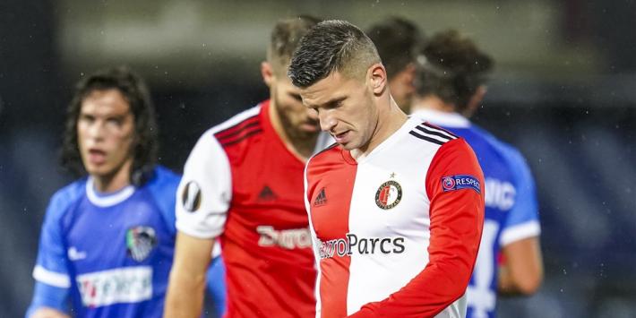 Falende arbiter en slecht spel zorgen voor horroravond Feyenoord