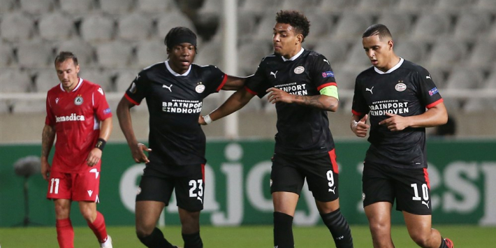 Malen bezorgt gehavend PSV cruciale late zege op AC Omonia